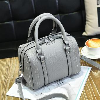 Korean-style female New style portable trendy bag (Gray)