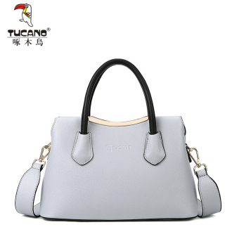 Korean-style shoulder women's bag New style women's bag (Gray)