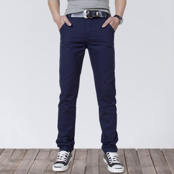 Korean-style Slim Fit Youth Summer skinny pants men's casual pants (Shen Lan)