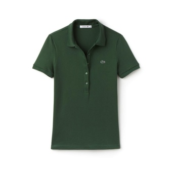 LACOSTE MONOTONE 5 BUTTONS FOR WOMEN (MOSS GREEN)