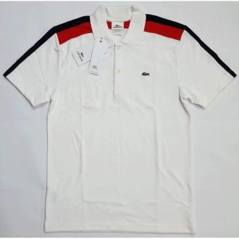 Lacoste Multicolor Slim Fit Polo Shirt For Men (White)