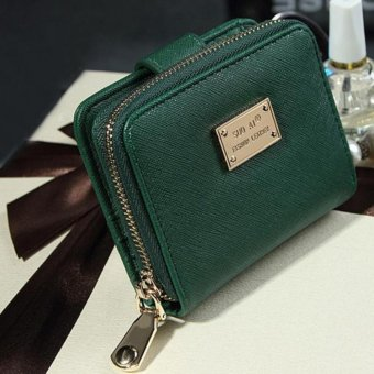 Lady Women Purse Clutch Wallet Short Small Bag Card Holder Green -intl