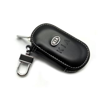 Leather Car Remote Key Holder Case Cover for KIA (Black) - intl