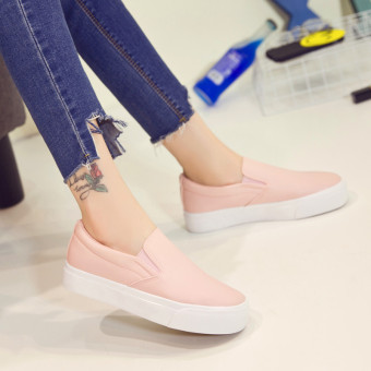 Lok Fu shoes Korean-style autumn New style female casual canvas shoes (Pink)
