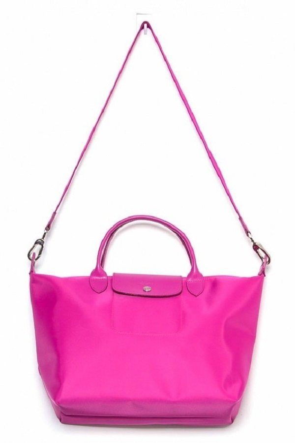 Longchamp Medium Le Pliage Neo Tote Bag (Magenta)