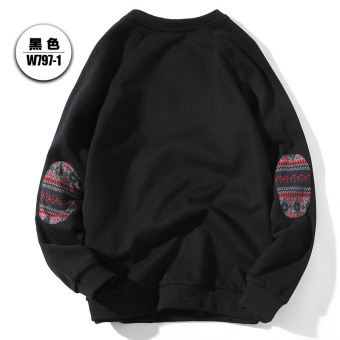 LOOESN autumn New style student hoodie (Black)