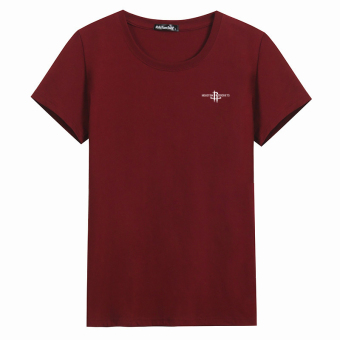LOOESN cotton round neck Plus-sized base shirt T-shirt (Arrow red)