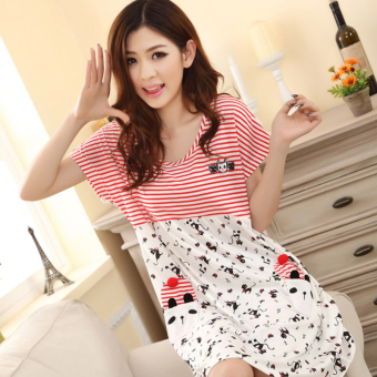 LOOESN Korean-style cotton female student pajamas summer nightgown (Tmall lingerie)