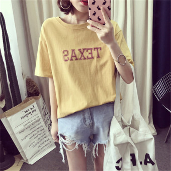 Loose Korean-style short sleeved female student Top