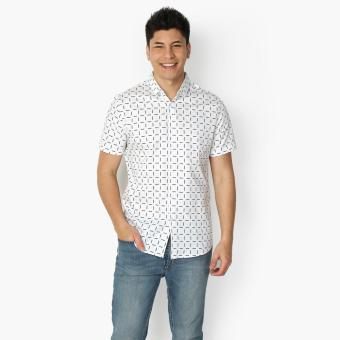 Markus Teens Patterned Casual Shirt (White)