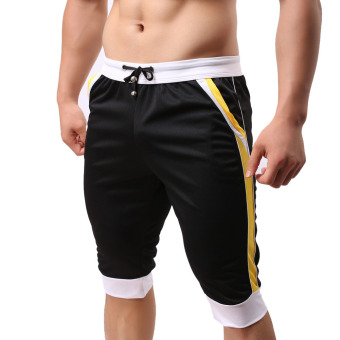 Men Fashion Fitness Gym Shorts Black