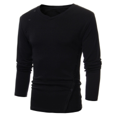 PHP 581. Men's Casual Slim Fit Long Sleeve V-neck Stylish Tops ...