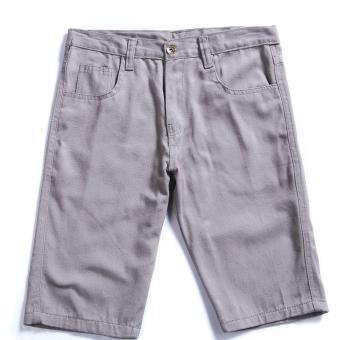 Men's Korean Style Casual Simple Plain Short (Grey)