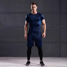 PHP 1.287. Mens Sports Suits Running Clothes Short Compression Tights Gym Fitness T Shirt Pants Sets of ...