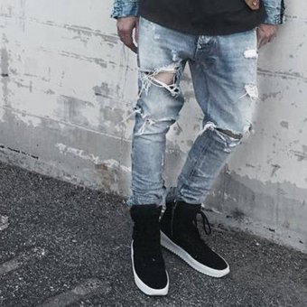 Mens Straight Slim Denim Pants (Intl) - intl