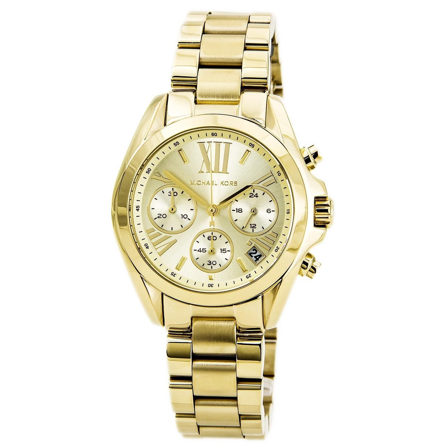 michael kors designer watches neqq  Michael Kors Women's Gold Stainless Steel Strap Watch MK5798