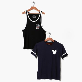 Mickey Mouse 2-piece Teens Graphic Tee And Tank Set (M)