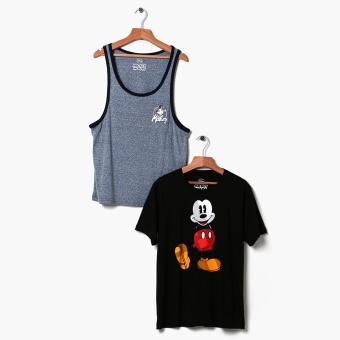 Mickey Mouse 2-piece Teens Graphic Tee And Tank Set (S)