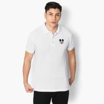 Mickey Mouse Face Teens Polo Shirt (White)