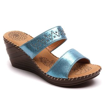 mnicole s9043 wedge sandals blue lazada ph