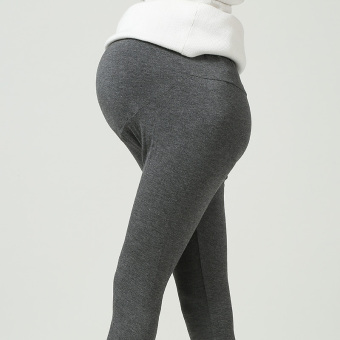 Modaier thin ankle-length pants pregnant women's bottoming pants (Light gray)