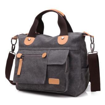 New style Portable Bag Korean-style plain weave bag (Gray 1117 canvas bag)