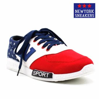 New York Sneakers Lane Rubber Shoes(RED/WHITE/BLUE)