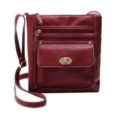 niceEshop Women PU Leather Shoulder Bag Tote Satchel Crossbody Bag, Red(International)