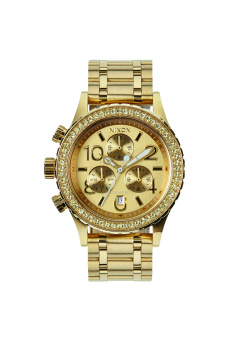 Nixon 38-20 Chrono Women's Gold-plated Stainless Steel Strap Watch A404-1520