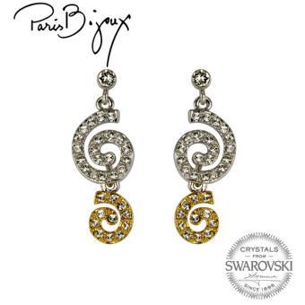 Paris Bijoux E011542A Earrings (Two Tone)