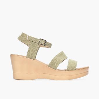 Parisian Basic Ladies nil Wedge Sandals (Beige)