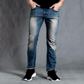 PENSHOPPE Carrot Fit Jeans with zipper on back pocket (Blue)