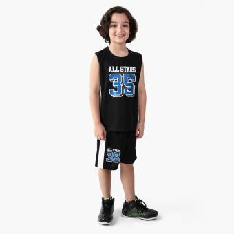 Rookie Boys All Stars 25 Jersey Shorts Set (Black)