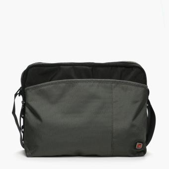 Salvatore Mann Emilio Messenger Bag (Dark Gray)