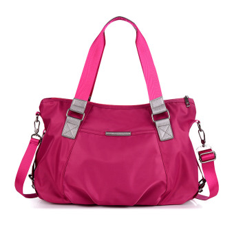 Simple nylon Oxford Cloth large bag New style women's bag (Rose Red 1139 nylon large bag)