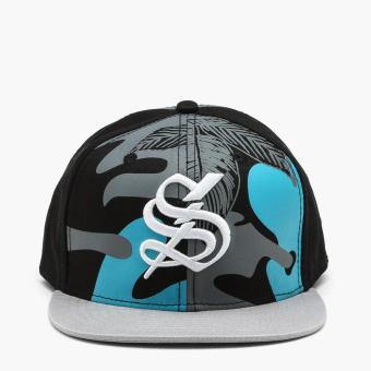 SM Accessories Mens S Snap Back Cap (Black)