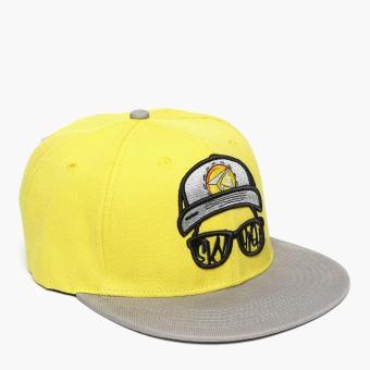 SM Accessories Mens Snap Back Cap (Yellow)