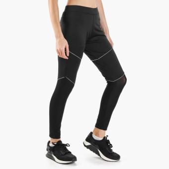SM Woman Active Mesh-Paneled Piped Leggings (Black)