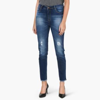 SM Woman Dark Wash Skinny Jeans (Blue)