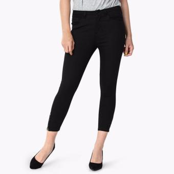 SM Woman Side-zip Cropped Skinny Jeans (Black)