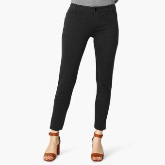 SM Woman Zipped Hem Jeggings (Black)