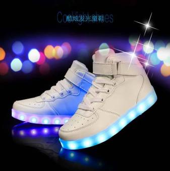 Sports Shoes LED Sneakers Luminous Sneakers Shoes for Girls Boys Kids White - intl
