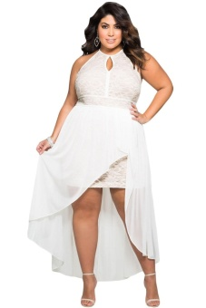 Stylish Lace Special Occasion Plus Size Dress - intl