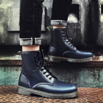 Stylish men tooling boots Dr. Martens (Blue)