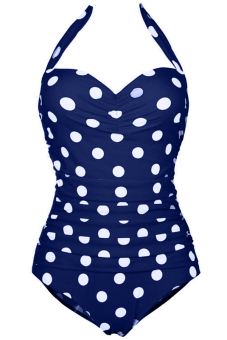 Sunweb Women Sexy Swimwear Swimsuits Beachwear One Piece Bikini (Blue)