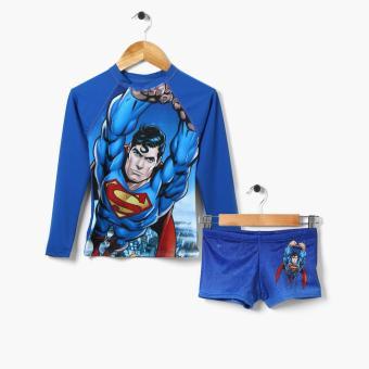 Superman Boys Rashguard and Trunks Set (Medium)