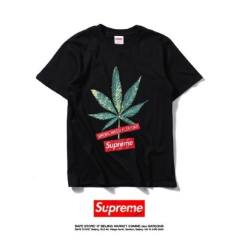 Supreme Fashion BOX casual brand embroidery short sleeved T-shirt -intl