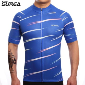 SUREA 2017 New Fabric Summer Men Quick Dry Cycling Jersey Mtb Breathable Bicycle Clothing Short Sleeve Cool Bike Wear Clothes DS-09 - intl