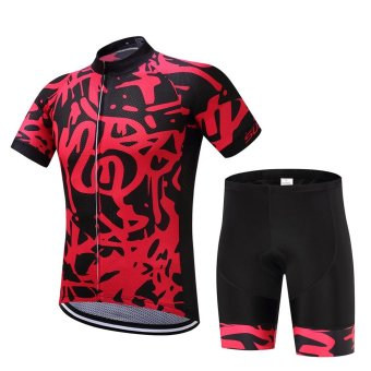 SUREA 2017 New Fabric Summer Men Quick Dry Cycling Jersey/ShortsSet Mtb Breathable Bicycle Clothing Short Sleeve Cool Bike ClothesDT-28 - intl