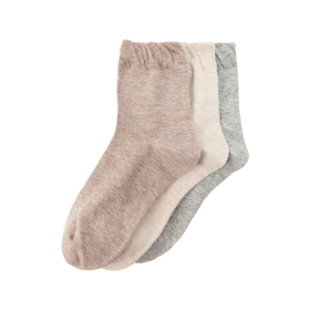 Taobaoxinxuan solid color loose cuffs fine comb cotton socks
